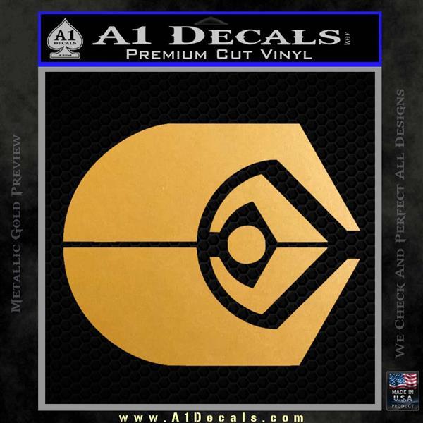 Ferengi Alliance Decal Sticker Star Trek Metallic Gold Vinyl