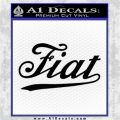Fiat Decal Sticker Black Logo Emblem 120x120