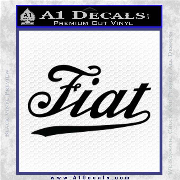 Fiat Decal Sticker Black Logo Emblem