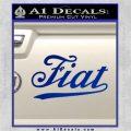 Fiat Decal Sticker Blue Vinyl 120x120