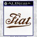 Fiat Decal Sticker Brown Vinyl 120x120