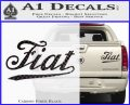 Fiat Decal Sticker Carbon Fiber Black 120x97