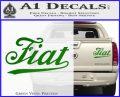 Fiat Decal Sticker Green Vinyl 120x97