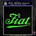 Fiat Decal Sticker Lime Green Vinyl 120x120