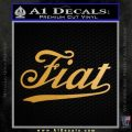 Fiat Decal Sticker Metallic Gold Vinyl 120x120