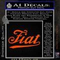 Fiat Decal Sticker Orange Vinyl Emblem 120x120