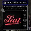 Fiat Decal Sticker Pink Vinyl Emblem 120x120