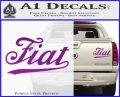 Fiat Decal Sticker Purple Vinyl 120x97