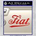Fiat Decal Sticker Red Vinyl 120x120