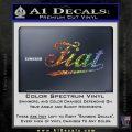Fiat Decal Sticker Sparkle Glitter Vinyl 120x120