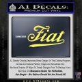 Fiat Decal Sticker Yelllow Vinyl 120x120