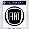 Fiat Logo CR Decal Sticker Black Logo Emblem 120x120