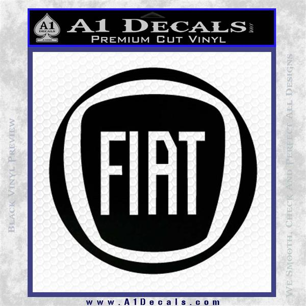 Fiat Logo CR Decal Sticker Black Logo Emblem