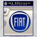 Fiat Logo CR Decal Sticker Blue Vinyl 120x120