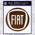 Fiat Logo CR Decal Sticker Brown Vinyl 120x120