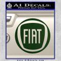 Fiat Logo CR Decal Sticker Dark Green Vinyl 120x120