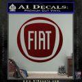 Fiat Logo CR Decal Sticker Dark Red Vinyl 120x120