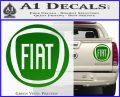 Fiat Logo CR Decal Sticker Green Vinyl 120x97
