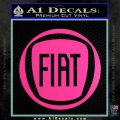 Fiat Logo CR Decal Sticker Hot Pink Vinyl 120x120