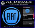 Fiat Logo CR Decal Sticker Light Blue Vinyl 120x97