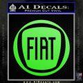 Fiat Logo CR Decal Sticker Lime Green Vinyl 120x120