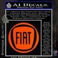 Fiat Logo CR Decal Sticker Orange Vinyl Emblem 120x120