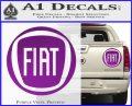 Fiat Logo CR Decal Sticker Purple Vinyl 120x97