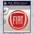 Fiat Logo CR Decal Sticker Red Vinyl 120x120