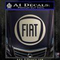 Fiat Logo CR Decal Sticker Silver Vinyl 120x120