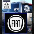 Fiat Logo CR Decal Sticker White Emblem 120x120
