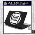 Fiat Logo CR Decal Sticker White Vinyl Laptop 120x120
