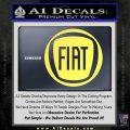 Fiat Logo CR Decal Sticker Yelllow Vinyl 120x120
