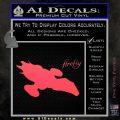 Firefly Serenity Decal Sticker Pink Vinyl Emblem 120x120