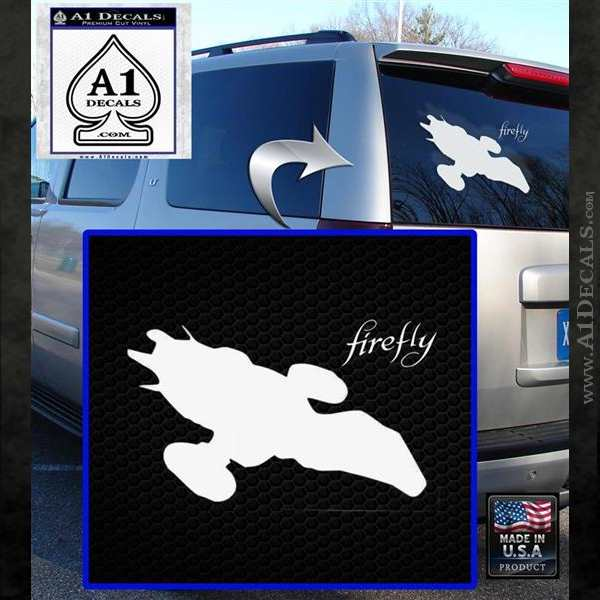 Firefly Serenity Decal Sticker White Emblem