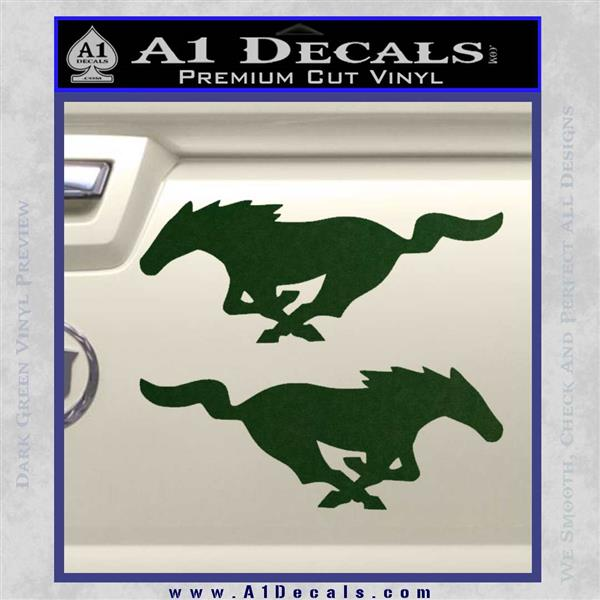 Mustang Svo Emblem Black 79 18: Ford Mustang Decal Sticker 2pk » A1 Decals