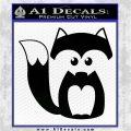 Fox Cutie Decal Sticker Black Logo Emblem 120x120