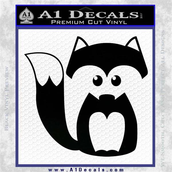 Fox Cutie Decal Sticker Black Logo Emblem