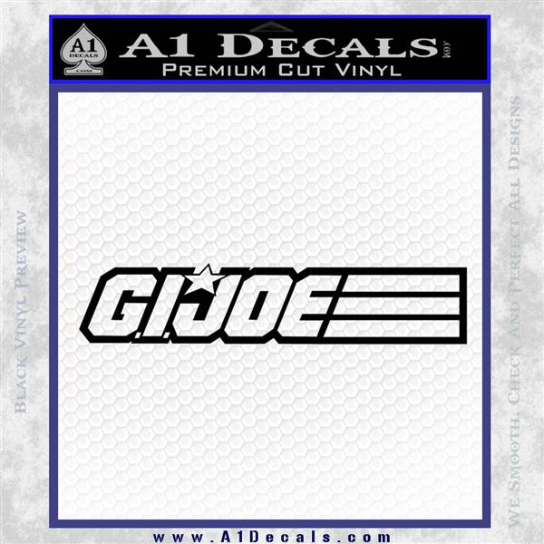 GI Joe Wide DM Decal Sticker Black Logo Emblem