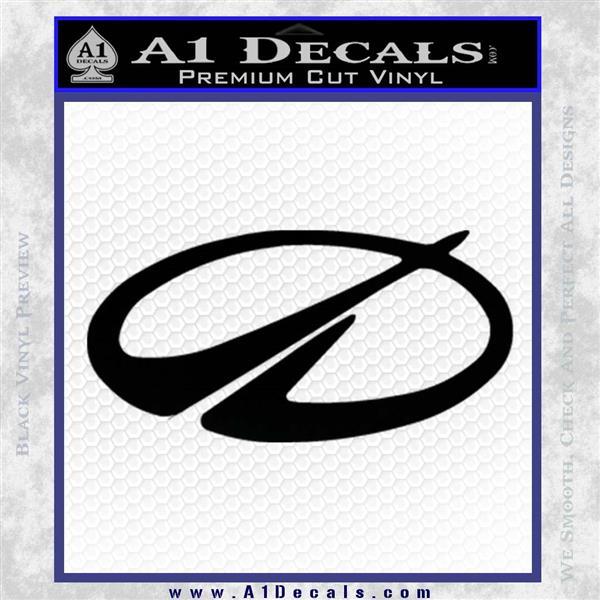 GM Oldsmobile Logo Decal Sticker Black Logo Emblem