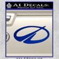 GM Oldsmobile Logo Decal Sticker Blue Vinyl 120x120