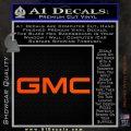 GMC Decal Sticker TX Orange Vinyl Emblem 120x120