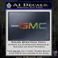 GMC Decal Sticker TX Sparkle Glitter Vinyl 120x120