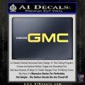 GMC Decal Sticker TX Yelllow Vinyl 120x120