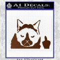 GRUMPY CAT MIDDLE FINGER VINYL DECAL STICKER Brown Vinyl 120x120