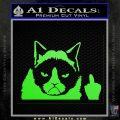GRUMPY CAT MIDDLE FINGER VINYL DECAL STICKER Lime Green Vinyl 120x120