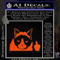 GRUMPY CAT MIDDLE FINGER VINYL DECAL STICKER Orange Vinyl Emblem 120x120