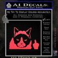 GRUMPY CAT MIDDLE FINGER VINYL DECAL STICKER Pink Vinyl Emblem 120x120