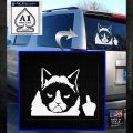 GRUMPY CAT MIDDLE FINGER VINYL DECAL STICKER White Emblem 120x120