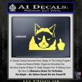 GRUMPY CAT MIDDLE FINGER VINYL DECAL STICKER Yelllow Vinyl 120x120