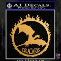 Game Of Thrones Dracarys Decal Sticker Metallic Gold Vinyl 120x120